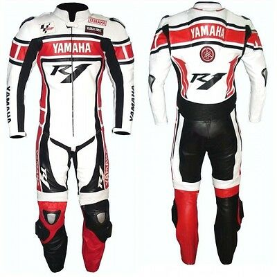 Yamaha R1 Motorbike Racing Leather Suit Ce Approved Protection