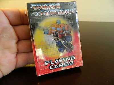 PLAYING CARDS Optimus Prime Hologram Transformers G1 2002 SEALED New