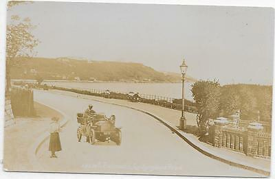 1926  RPPC FALMOUTH  GYLLYNGDUNE  ROAD SHOWING VINTAGE CAR ETC UNPOSTED c1905
