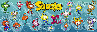 NEW!! EXTRA LARGE! SNORKS Color Panoramic Photo Print HANNA BARBERA