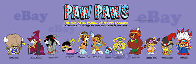 EXTRA LARGE! PAW PAWS Panoramic Photo Print FUNTASTIC WORLD OF HANNA BARBERA