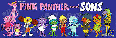 New!! EXTRA LARGE! PINK PANTHER AND SONS Panoramic Photo Print HANNA BARBERA