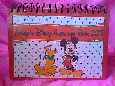 A5 Personalised Disney Autograph Books 60 sheets, Decorated Pages, High Quality