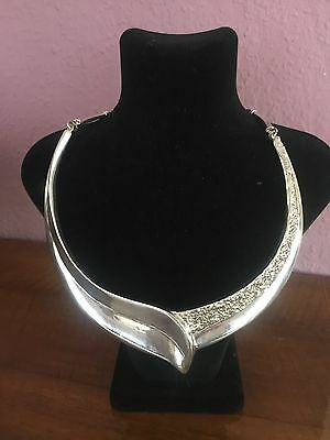 Modernist Designer Schmuck Collier/Necklace / Kette  925 Sterling Silber  70er ?