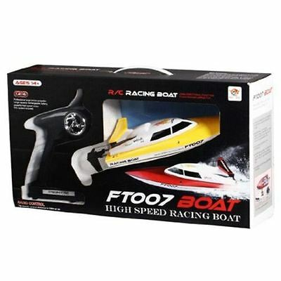 Fei Lun Twin Propeller Fast High Speed Remote Control RC Boat - Yellow - FT007