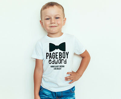 Page Boy - Personalised Page Boy shirt - Boys wedding outfit - Toddler wedding