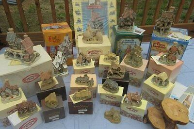 HUGE lot DAVID WINTER cottages 20 houses!! Signed numbered. RARE! Box w/COA