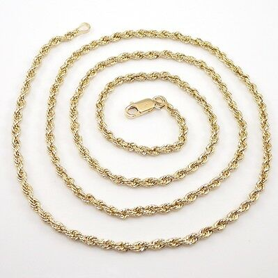 """Michael Anthony 14K Yellow Gold Rope Chain Necklace 20"""" RQ2"""