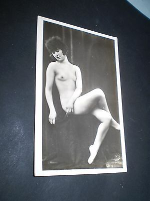 glamour 1920's beautiful french flapper rp photo postcard non pc back