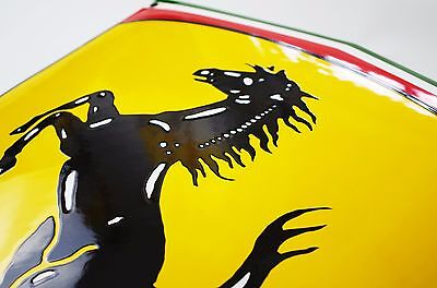 Enamel plaque FERRARI 40 x 55 cm WARRANTY-10 yrs emblem sign logo plate shield