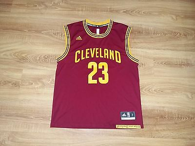 Cleveland Cavaliers Cavs #23 James red NBA adidas jersey size M