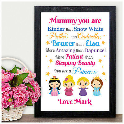 PRINCESS Personalised Keepsake Birthday Gifts for Mummy Mum Nanny Granny Auntie