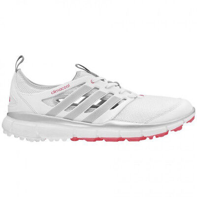NEW Adidas Womens Climacool II Golf Shoes White/Silver/Red - Choose Size!