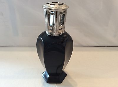 Lampe Berger Oil Lamp/Diffuser Retired Athena Black Glass with Burner Perfume