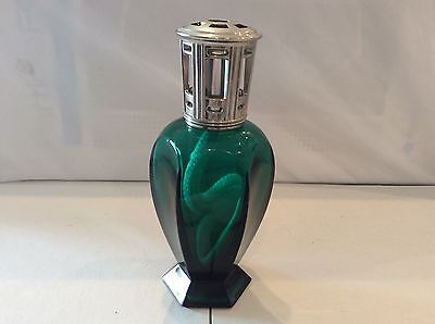 Lampe Berger Fragrance Diffuser Athena Green Retired Burned Heavy Silver Vent