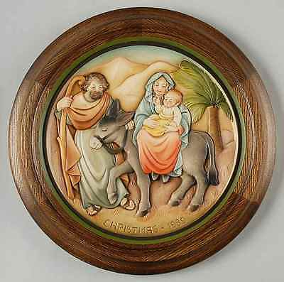 Anri CHRISTMAS PLATE Flight Into Egypt 1989 (3927089) - pre-owned