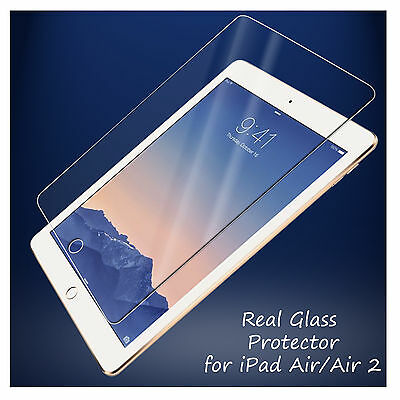 REAL GENUINE TEMPERED GLASS LCD FILM SCREEN PROTECTOR FOR APPLE iPAD AIR,AIR 2