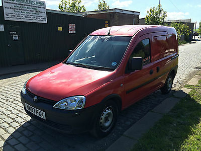 Vauxhall combo 1.3 CDTI 1700 van red diesel MOT 2007 VAT inc WARRANTED MILES car