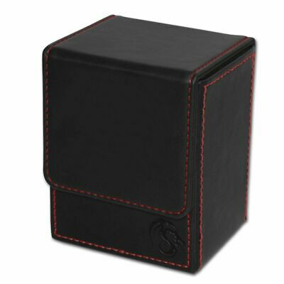 1x BCW GAMING DECK CASE BOX - LX - BLACK - Leatherette with Magnetic Closure