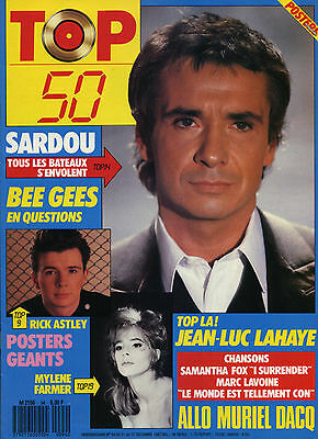 Magazine TOP 50 n°94, Michel SARDOU, Mylène FARMER, Dominique DUFOREST, LAHAYE