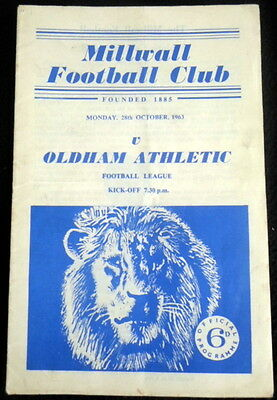 Millwall  v Oldham Athletic   28-10-1963