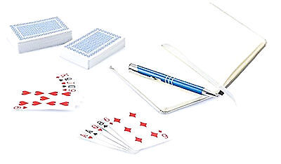 Playing Classic Cards Red Blue Multi Buy Number pack of 2 with Pen & Note Book