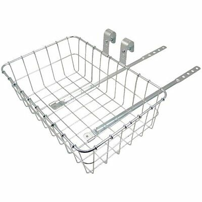 Wald 137 Front Bicycle Basket 15 x 10 x 4.75, Silver