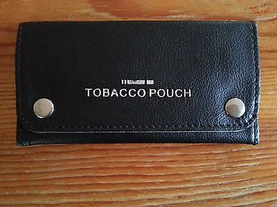Good Quality Soft Faux Leather Tobacco Pouch Fully Lined NEW BLACK