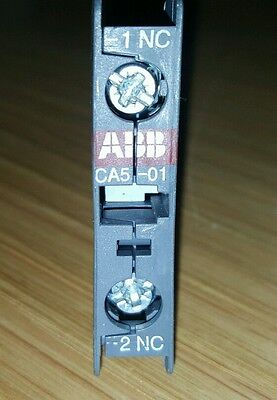 Abb Ca5-01 Normally Closed Top Mount Aux. Contact -  For Contactors Brand New