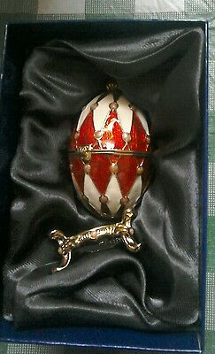 Exquisite Atlas Editions Harlequin enamel collectable Egg