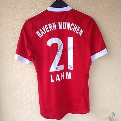 Bayern Munchen Match Issued Jersey Shirt 2009-10 Philim Lahm Singned