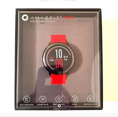 Amazfit Pace GPS-enabled Smartwatch + MP3 + HR - English - Red