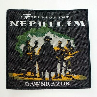 Fields Of The Nephilim Downrazor black woven patch aufnäher limited edition rock