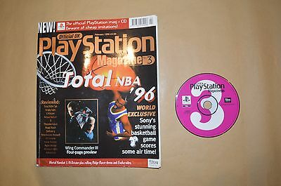 Official UK Playstation Magazine • Feb 96 •Issue 3 + demo disc • Free postage