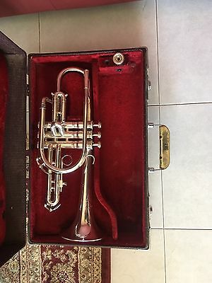 Vintage Silver Plated King Silver Sonic Cornet
