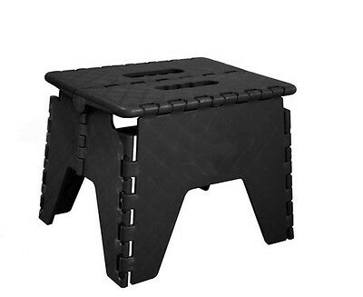 Black Folding Step Stool EasyStore Stepping Up Down Kitchen Home Garage Sturdy