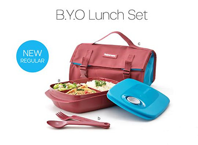 Tupperware Maroon BYO Lunch Box Set Microwaveable