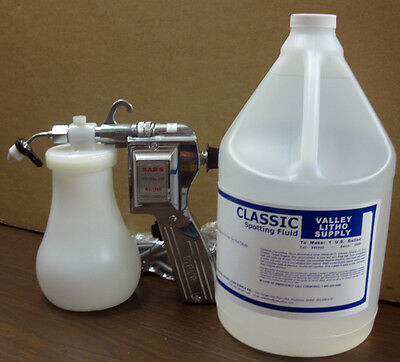 New Premium Spot Cleaning Gun + 1 Gallon Cleaning Fluid For Screen Printers
