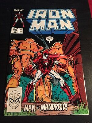 Iron Man#227 Incredible Condition 9.4(1988) Mandroid , Beetle , Beatdown , Cool!