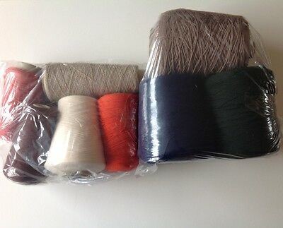 Machine Knitting/Hand Knitting Mixture of cones almost 3Kgs