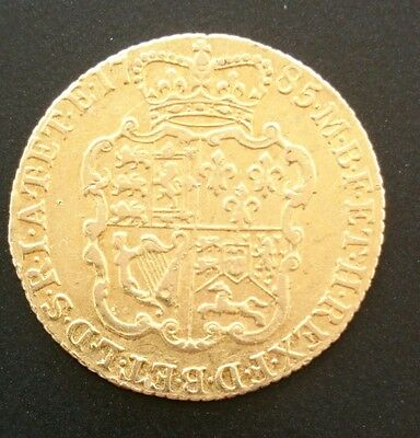 1785 full gold Guinea George iii