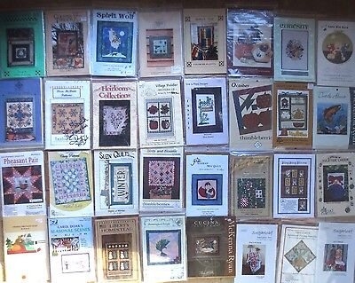 CLEARANCE nip lot 32 designer quilting quilt wallhangings patterns $200 valu