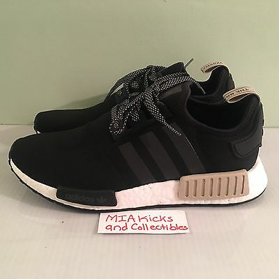 a205179dc ADIDAS NMD R1 Core Black Tan Cream White S76847 Men s Sizes 7.5-13 ...