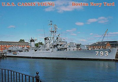 Old Postcard: U.S.S CASSIN YOUNG, Charlestown Navy Yard, Boston, United States.