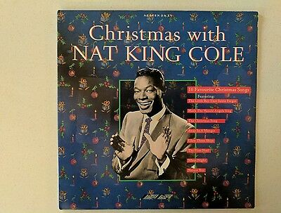 Christmas With Nat King Cole Vinyl LP 1988 16 Tracks