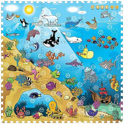 Creative Baby 9 Piece Interactive Playmat i-Mat, Under The Sea