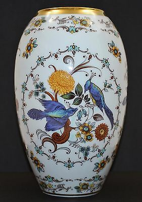 "Royal Porzellan Bavaria KPM Hand-painted Gold Gilt Rim Vase 9.25"" GORGEOUS"