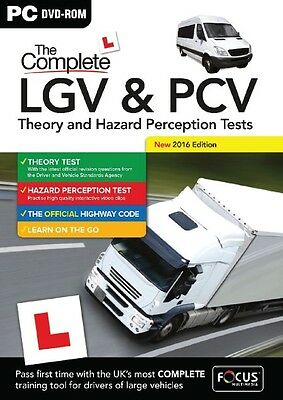 The Complete LGV & PCV Theory & Hazard Perception Test 2016 Edition-Brand New