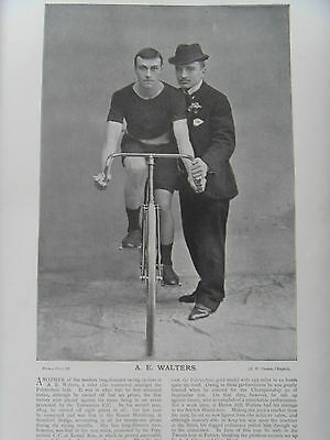 Victorian Photographic Print of A E WALTERS & A W HARRIS CYCLISTS