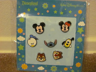 Disney Trading Pins 74244: Mini-Pin Collection - Cute Characters - Faces of Mick